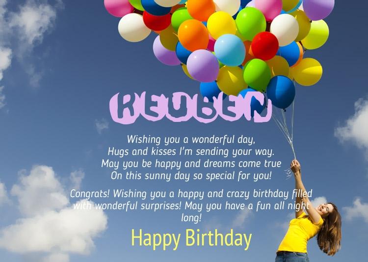 Birthday Congratulations For Reuben
