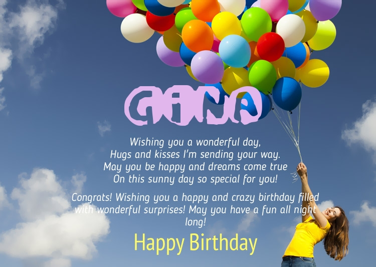 Birthday Congratulations For Gina
